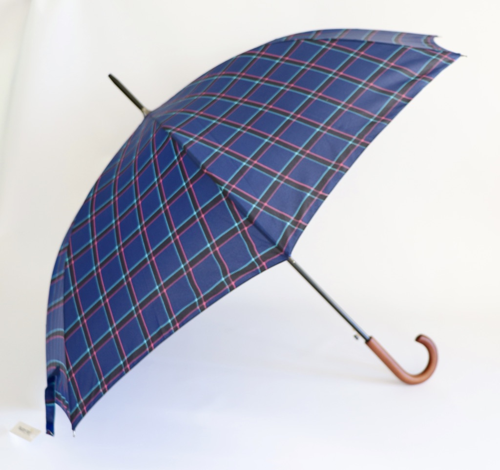 Paraplu Happy Rain Golf AC clan Checks Blauw